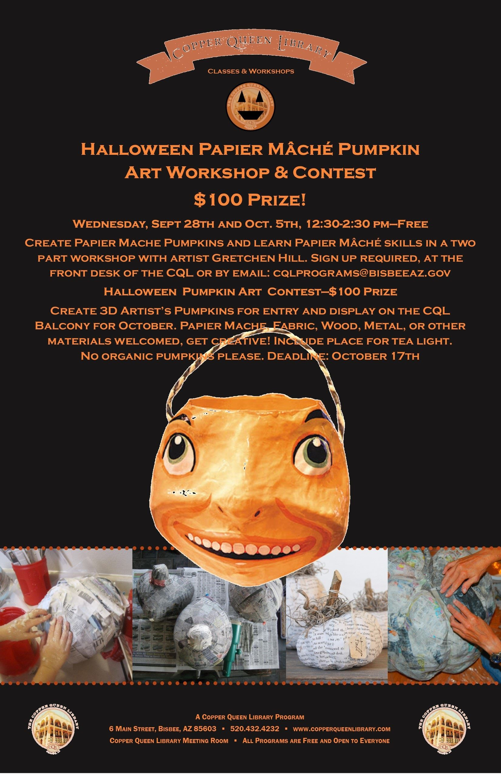 PUMPKIN ART WORKSHOP CONTEST 2016