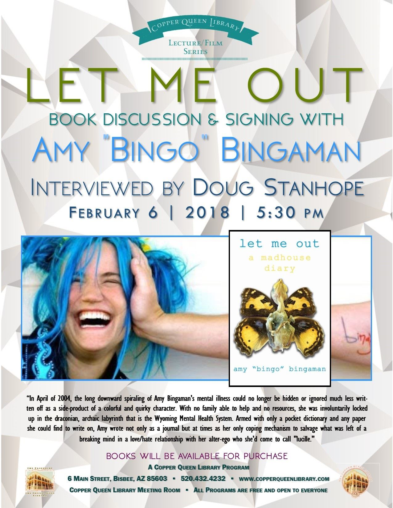 BINGO LET ME OUT AMY BINGAMAN 2.6.18.2018 8.5 x 11
