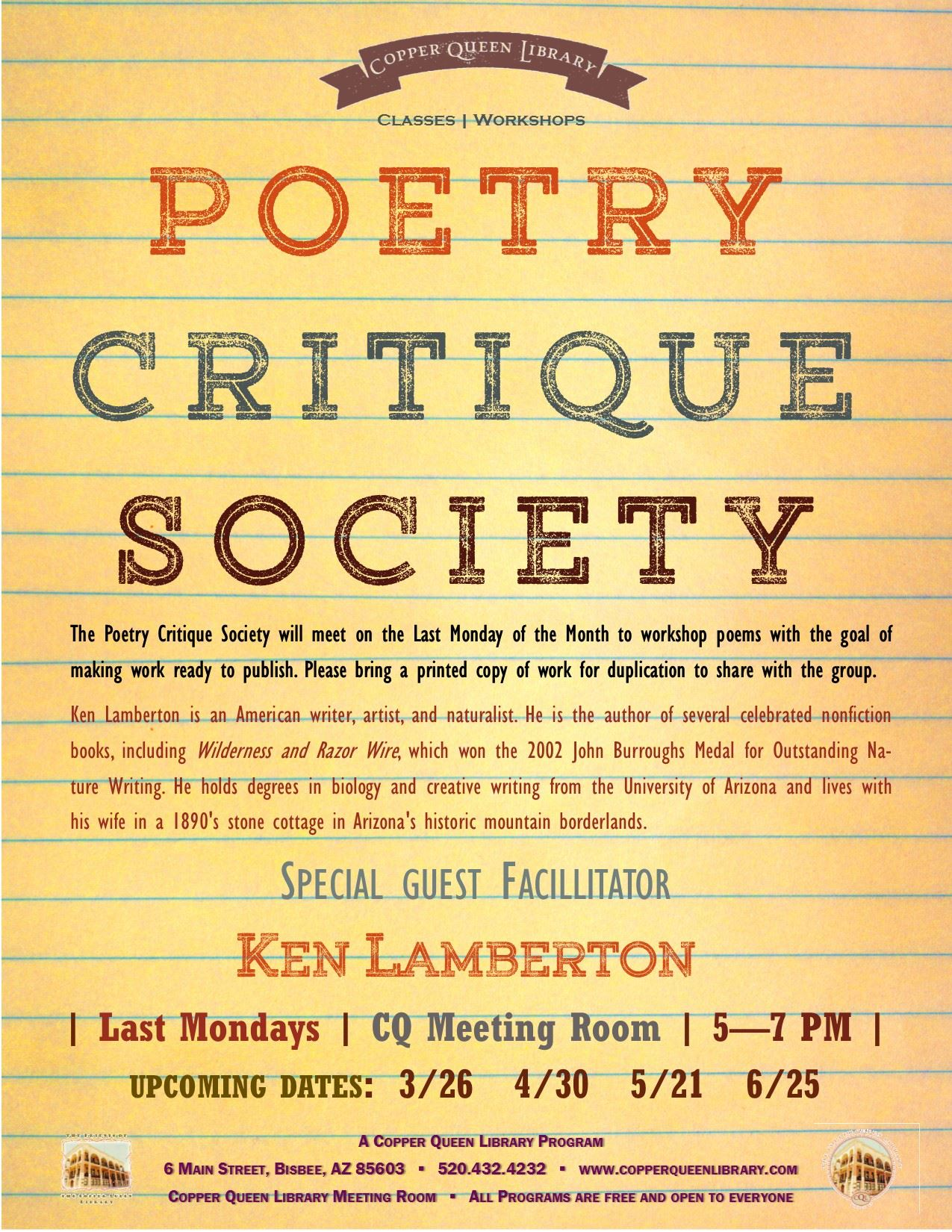 POETRY CRITIQUE SOCIETY feb 2018 8.5 x 11