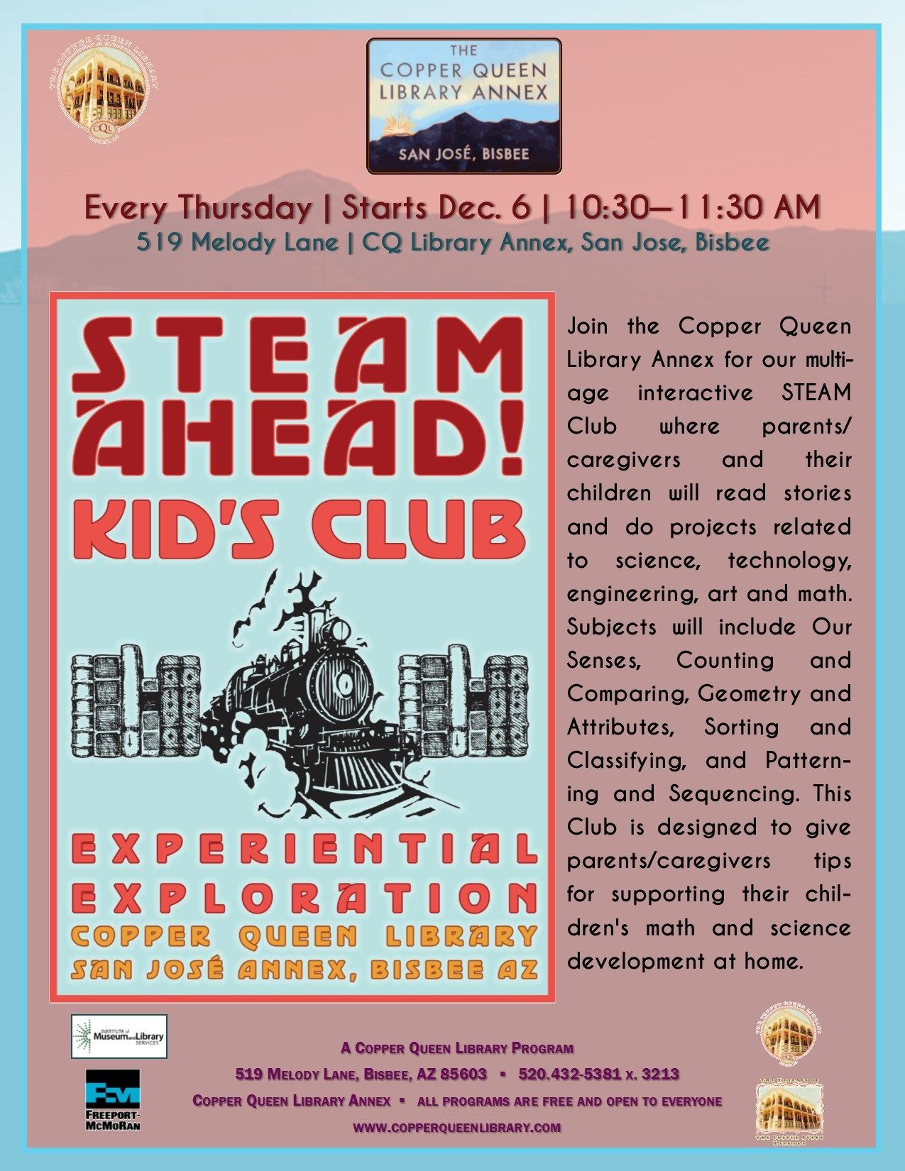 CQL ANNEX STEAM AHEAD CLUB 2018 8.5 x 11