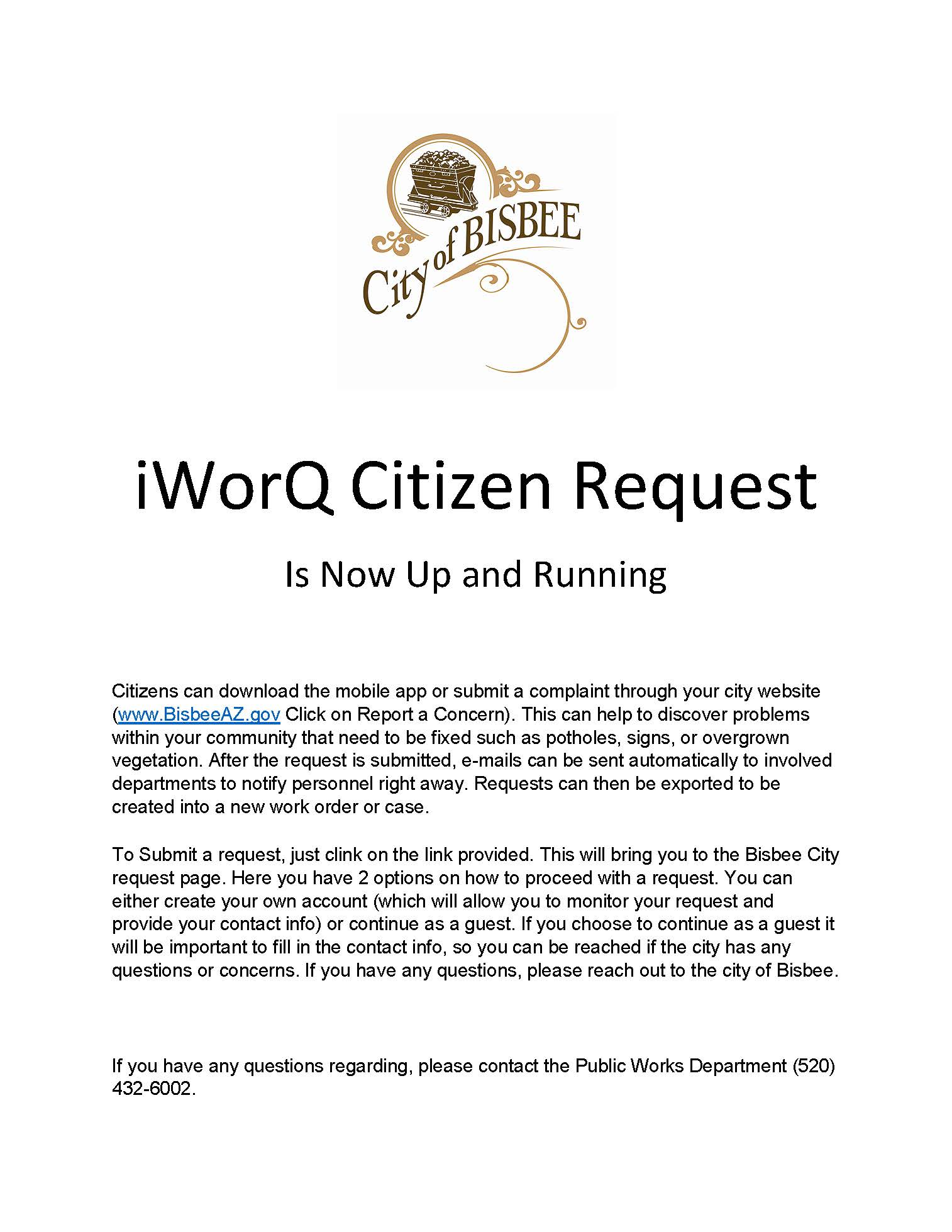 iWorQ Citizen Request
