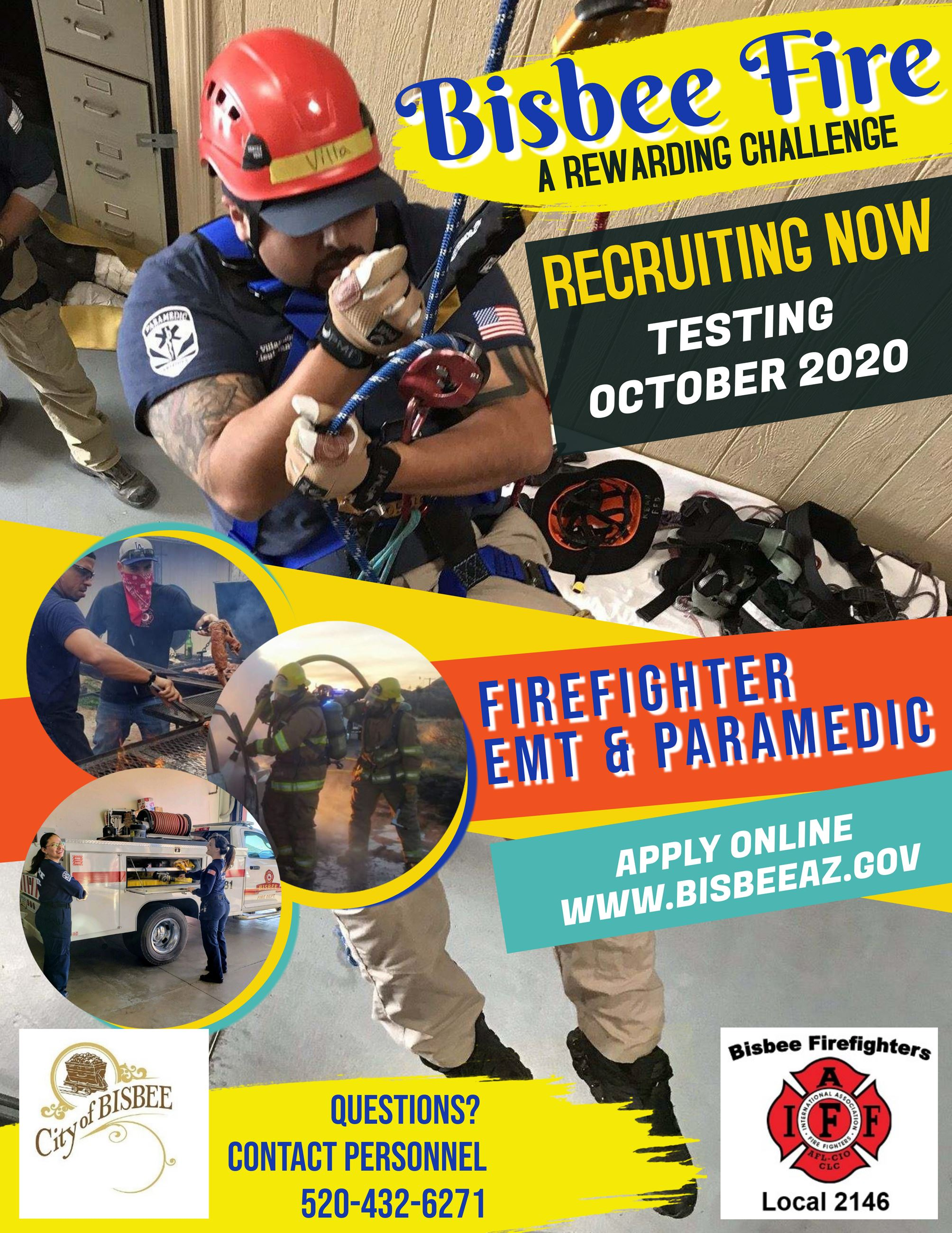 Bisbee Fire Recruitment Flyer 10-2020