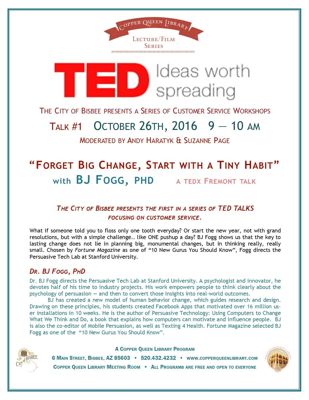 OCTOBER 16.2016 TED Talks POSTER 8.5x11