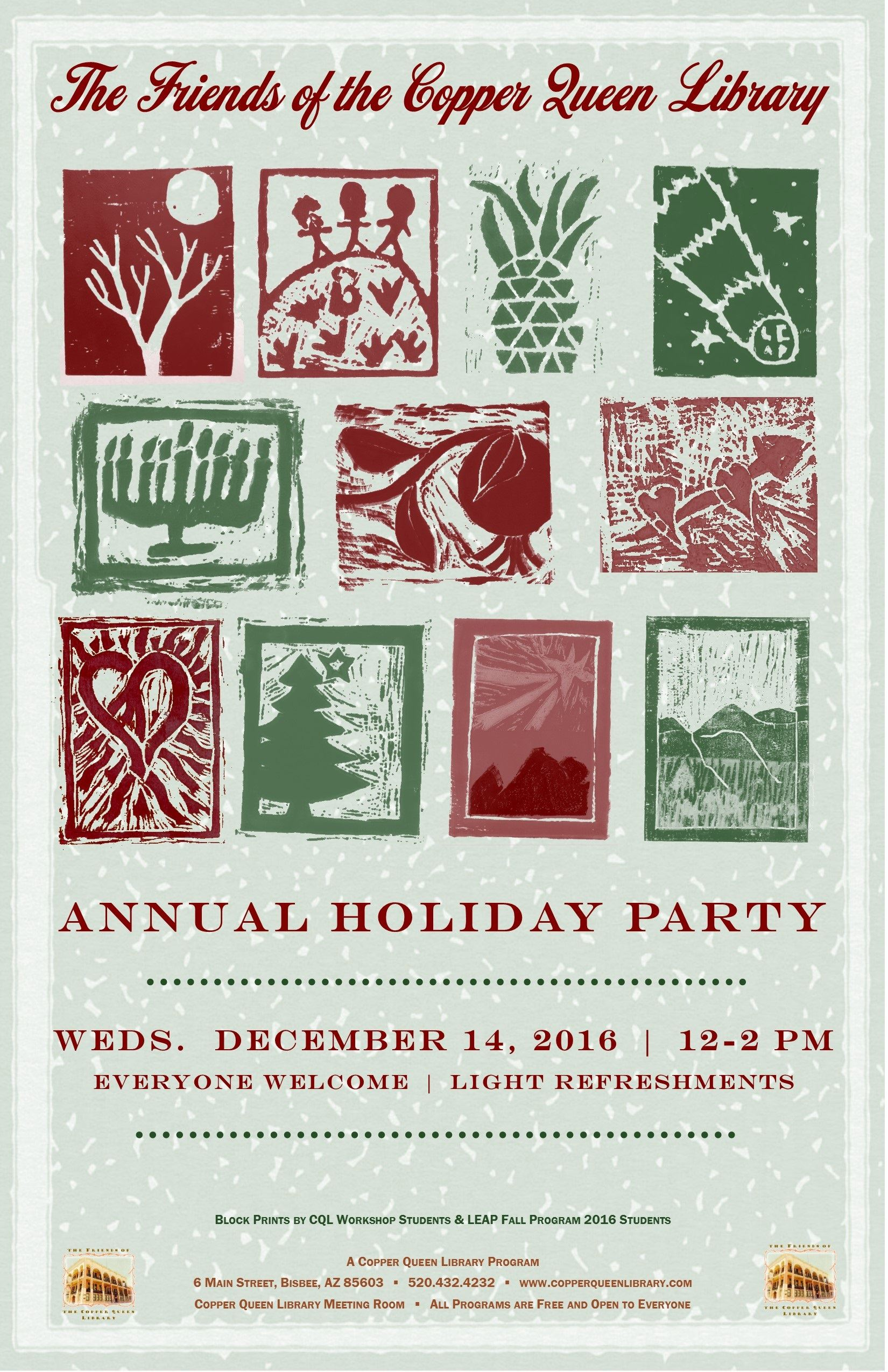 ANNUAL FRIENDSHOLIDAY PARTY DEC 2016