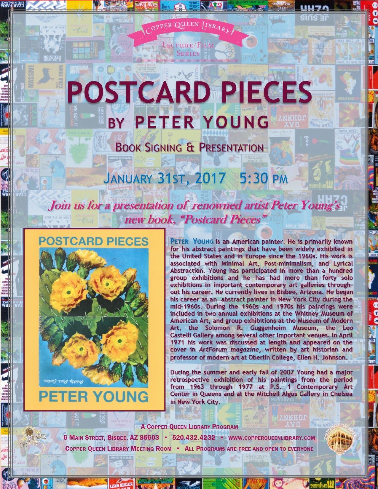 POSTCARD PIECES PETER YOUNG 1.31.17 POSTER 8.5x11