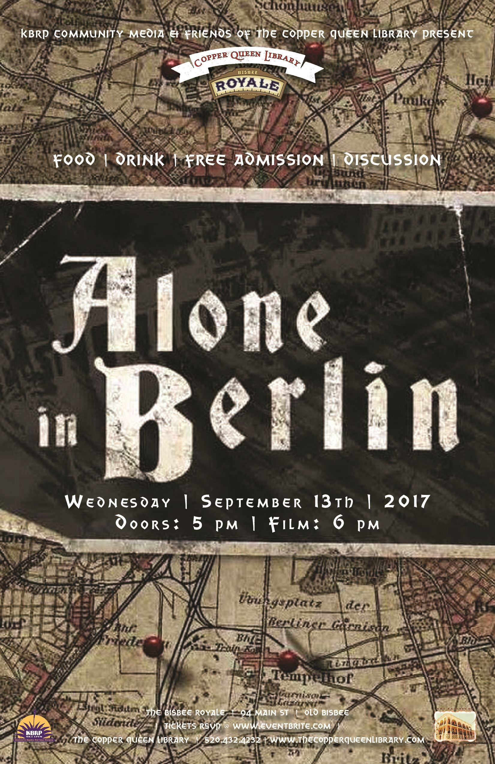 CQL ROYALE ALONE IN BERLIN  SEPT 2017 11 X 17