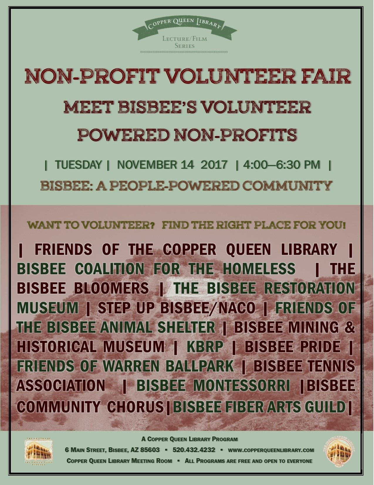 VOLUNTEER FAIR 11.14.2017 POSTER 8.5 X 11