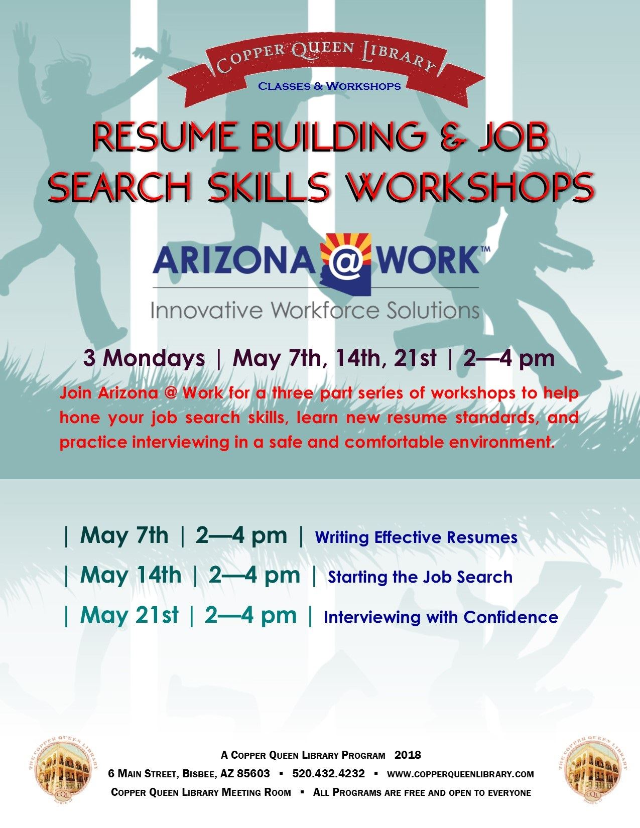 RESUME WORKSHOP MAY  2018 AZWORK  POSTER 8.5 X 11