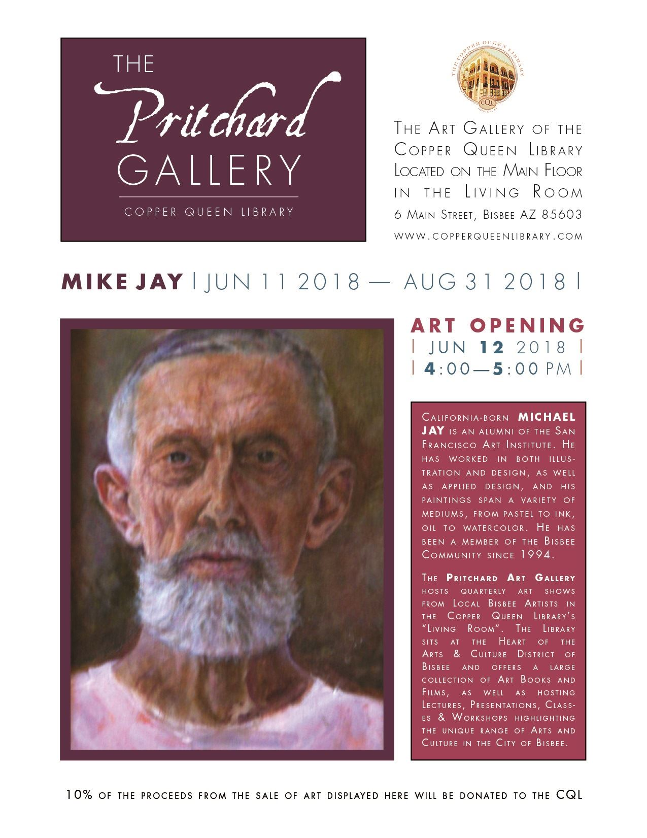 CQL PRITCHARD GALLERY MIKE JAY JUNE 2018