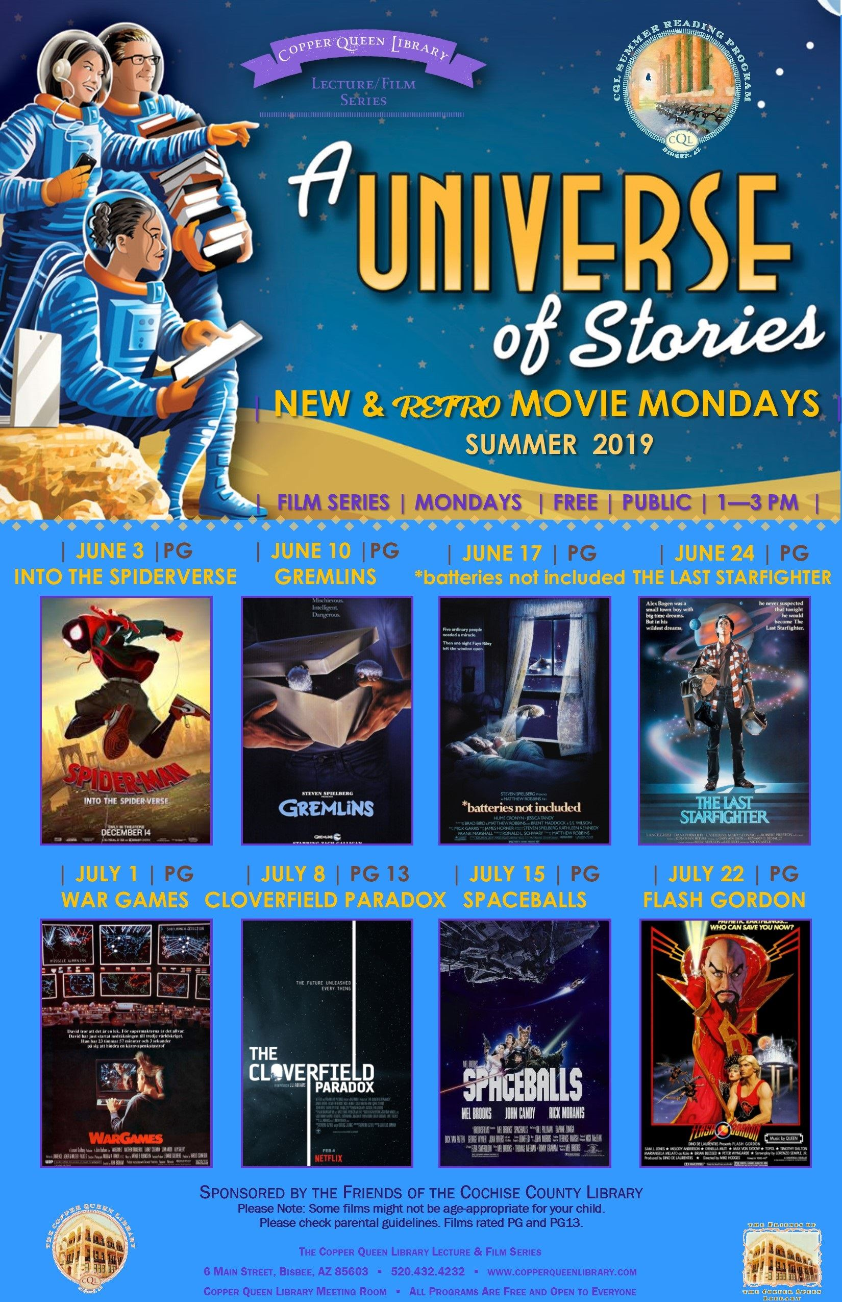 MONDAY MOVIE SUMMER SCHEDULE 2019 11 X 17