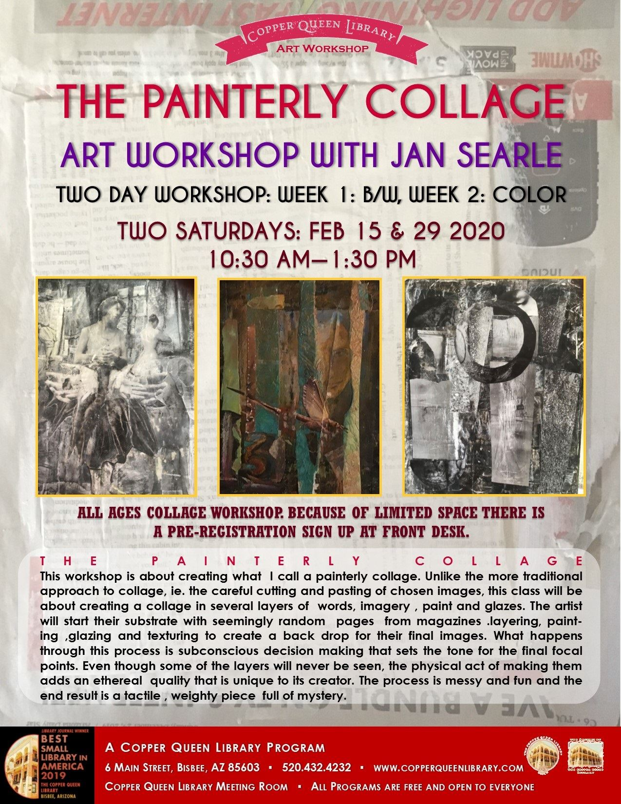 JAN SEARLE COLLAGE WORKSHOP