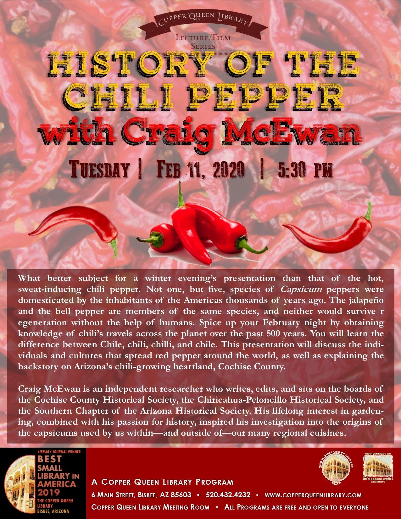 CRAIG MCEWAN HISTORY OF CHILI